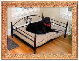 extra large luxury dog bed made from decorative wrought iron
