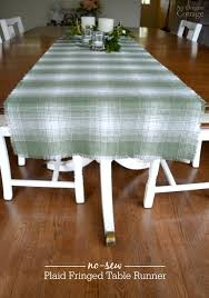 how to make table runner at home how to make an easy no sew fringed table runner