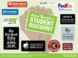 restaurant discounts 100 stores that give a student discount bestcollegesonline