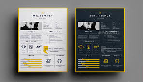 What Is Visual Resume 7 Striking Print Resume Templates For Visual Artists