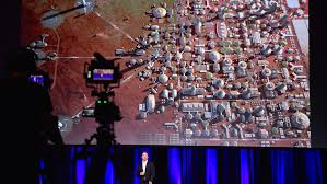 New York how long would it take to travel to mars images Elon musk unveils 39 mars city 39 says his spaceship will take you jpg