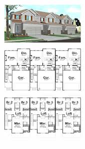 multi family house plans triplex traditional multi family plan 41141 half baths full bath and number