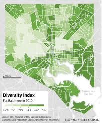 Baltimore City Council District Map Baltimore U0027s Demographic Divide Wsj Com