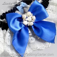 silver and royal blue wedding royal blue black and ivory lace pearl wedding garter pearl