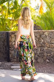 resort wear high waisted maxi skirt white crop top style by
