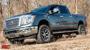 lifted nissan car 2016 2017 nissan titan xd 2 inch leveling lift kit by rough