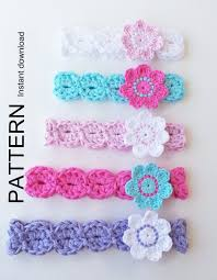 crochet headbands for babies 37 best diademas images on crowns knit crochet and