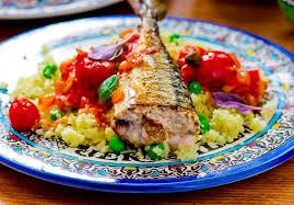 cuisiner les sardines recette salade de couscous à l escabèche de sardines et aux pois