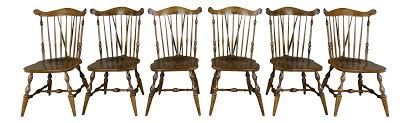 temple stuart windsor side chairs set of 6 chairish