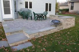 Raised Paver Patio Patios Walkways Detail