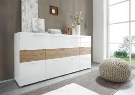 kommode weiãÿ hochglanz design sideboard weiß hochglanz eiche natur sorato13 designermöbel