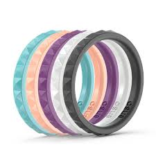 silicone wedding bands stackables not your husband s silicone wedding ring