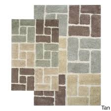 designer bathroom rugs bathroom two cotton piece bathroom rug sets in six square with