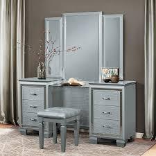 Vanity Dresser With Mirror Allura Vanity Dresser W Mirror Silver Homelegance Furniture Cart