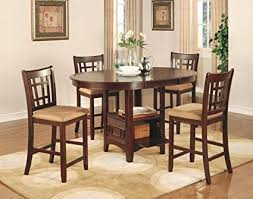 dining room furniture sets amazon com coaster lavon 5 counter table and chair set in