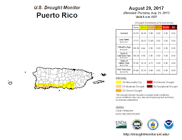 Show Map Of Puerto Rico by Drought August 2017 State Of The Climate National Centers
