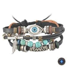 leather bracelet images Multilayer spiritual leather bracelet adjustable and unisex jpg