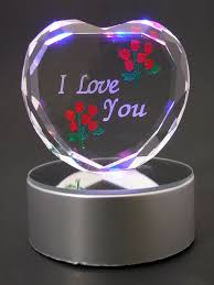 i you gifts buy banberry designs i you gift etched glass heart on led