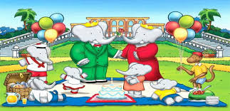 babar elephant coloring pages