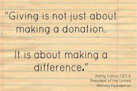 quotes for giving kathy calvin reflections for living