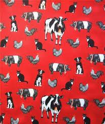 australian shepherd fabric everyday favorites farm animals cow pig dog red robert kaufman