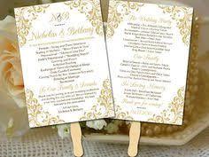 wedding program fans vistaprint wedding fan program template editable word template wedding signs