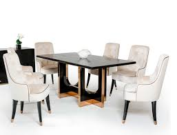black crocodile and rosegold dining table vg828 modern dining black crocodile and rosegold dining table vg828
