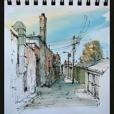 an urban sketch painted last december in downtown toronto u2026 flickr