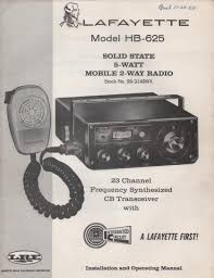 lafayette comstat 19 cb radio manual
