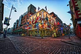 Flag Of Dublin Ireland Wallpaper Ireland Dublin Flag Roads Street Street Lights Cities