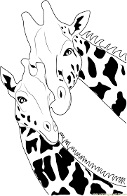 giraffe coloring page free giraffe coloring pages