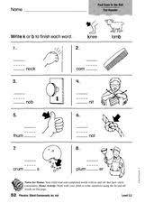 phonics silent consonants kn mb 1st 2nd grade worksheet