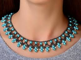bead necklace patterns images Free pattern for beaded necklace protaras beads magic jpg
