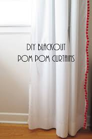 Pottery Barn Kids Panels by Diy Blackout Pom Pom Curtains These Are Perfect For Adding A Pop