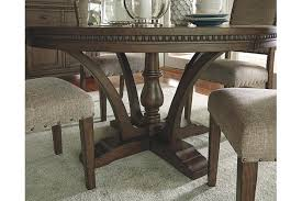dark brown round kitchen table grayish brown larrenton table and base view 3 furniture i like