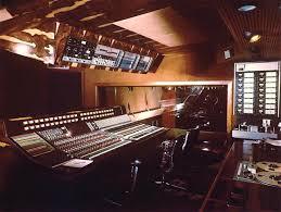 trident studio 1 control room with a range console audio