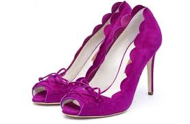 Wedding Shoes Purple Wedding Shoes Scalloped Detail Tieup Bridal Heels