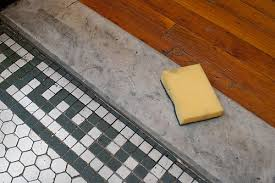 before after cleaning and restoring marble design sponge