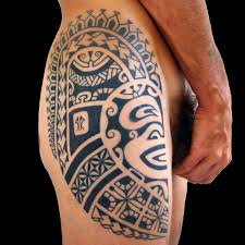 name style design thigh tattoo designs for men upper hand name style tattoo designs
