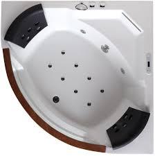 eago 5 u0027 rounded clear modern corner whirlpool bath tub with fixtures