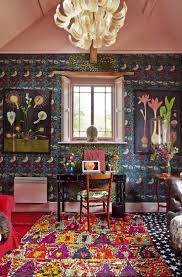 decoration bohemian interior design with classic furniture set
