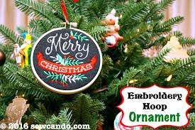 sew can do machine embroidered felt hoop ornaments