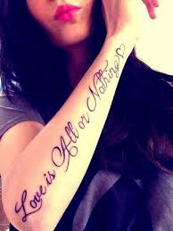 forearm quotes on tattoos and forearm