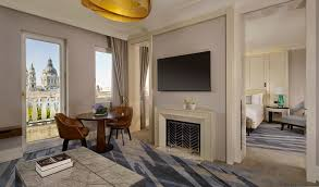Fireplace In Middle Of Room Luxury Hotel Suite Accommodation Budapest The Ritz Carlton Budapest