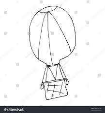 childs drawing air balloon stock vector 48197785 shutterstock