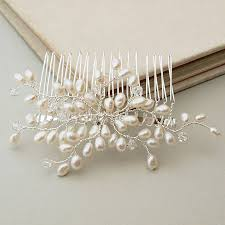bridal hair comb bud pearl bridal hair comb by jewellery made by me