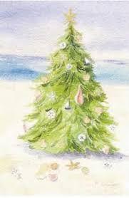 beach christmas tree christmas card