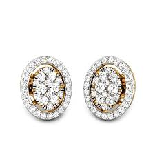 diamond earrings diamond yellow gold 18k lucena ziah diamond earrings