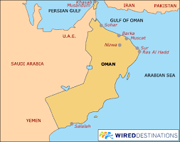 middle east map gulf of oman oman travel guide oman hotels middle east hotels oman travel