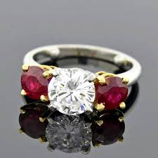 ruby engagement rings contemporary ruby 3 engagement ring for sale at 1stdibs